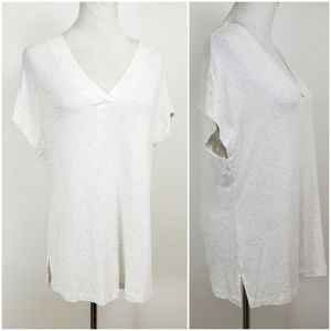 Cabi S Sleeveless Laidback Heather Tidal Tee Shirt